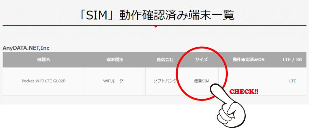 格安SIMで使えるスマホを確認